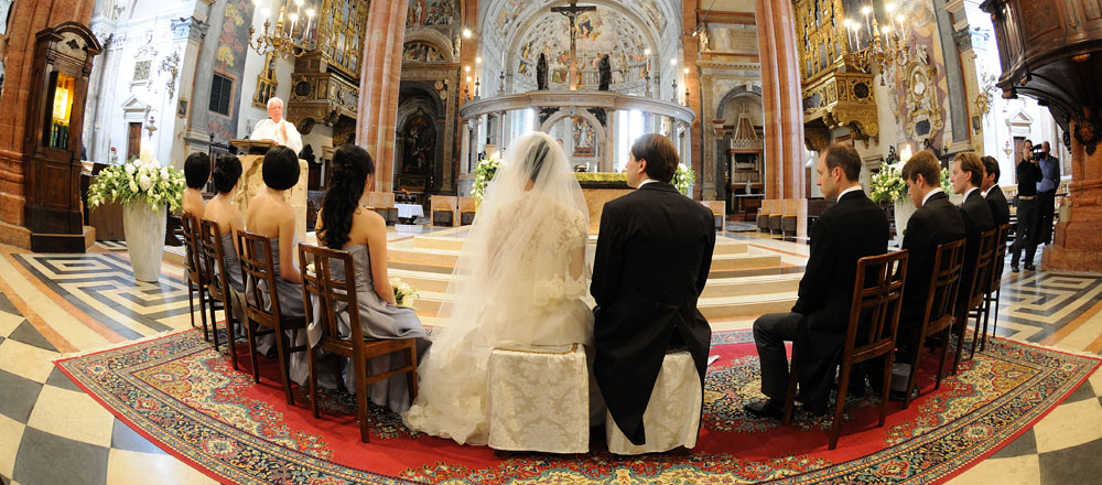 Religious Wedding Ceremony in Italy