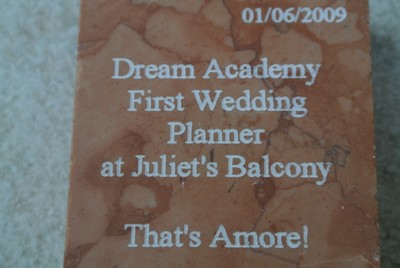 The First wedding at Juliet's Balcony in Verona