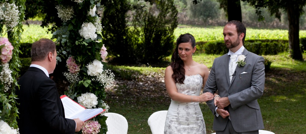 Legal Italian Civil Wedding Ceremony at Villa Giona